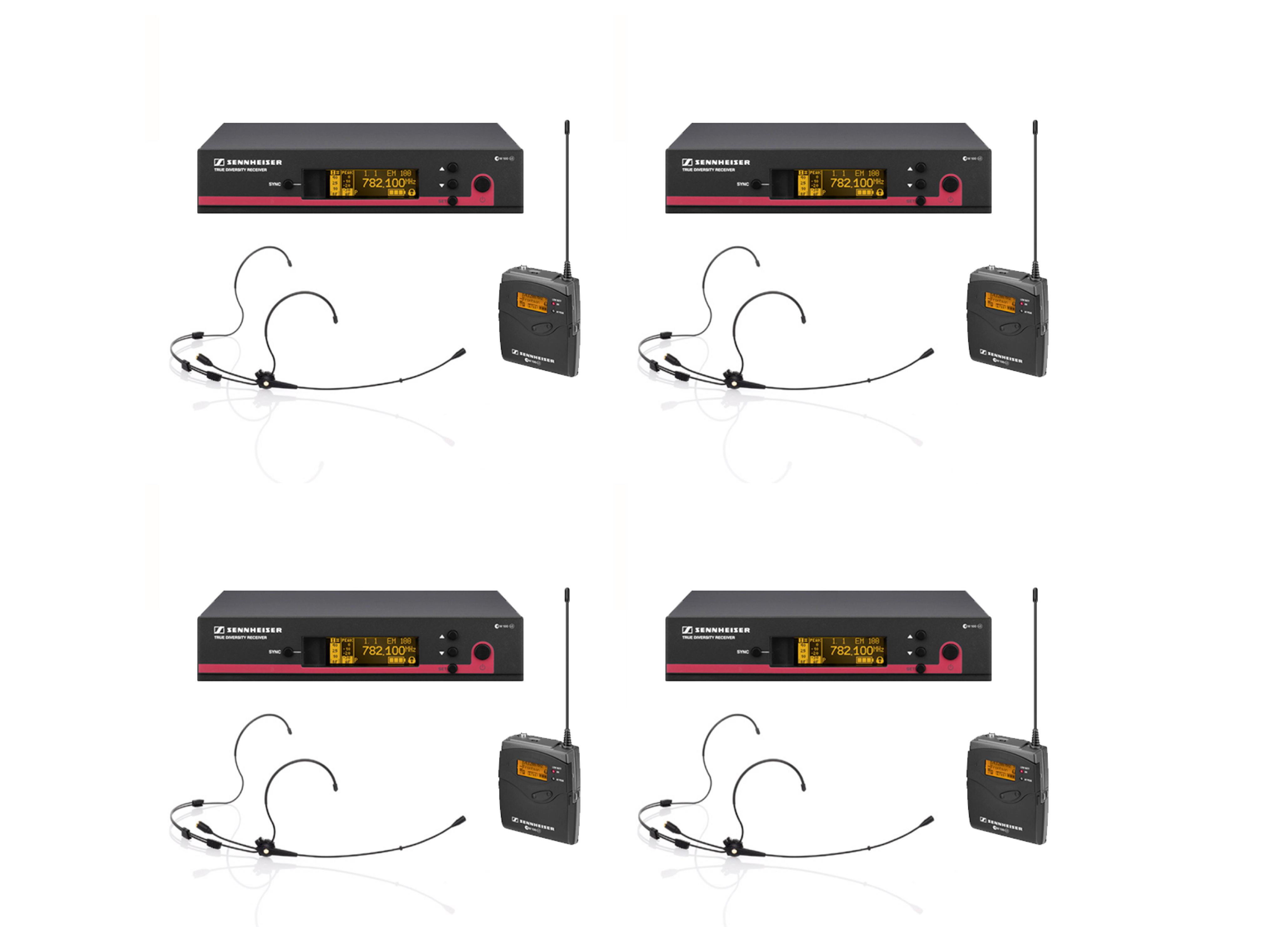 SENNHEISER EW152 G3 HEADWORN RADIO MICROPHONE SET (X4)